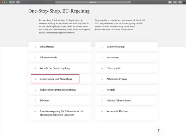 OSS Anleitung Registrierung Schritt 1