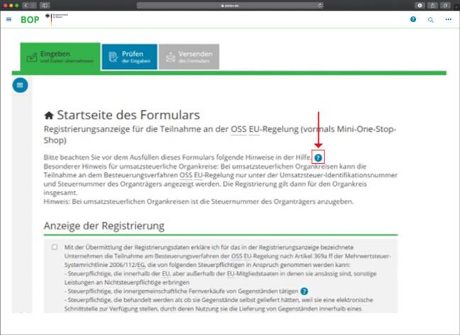 OSS Anleitung Registrierung Schritt 8