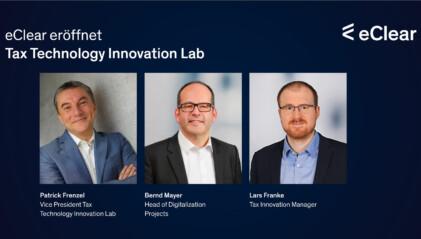 eClear eröffnet Tax Technology Innovation Lab